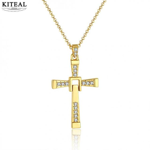 Kiteal P655 Fast and Furious Christian Gold Color Classic Crystal