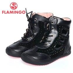 FLAMINGO modo di alta qualità primavera/autunno scarpe in pelle per bambini per la ragazza 2015 nuova collezione antiscivolo stivali XB4859