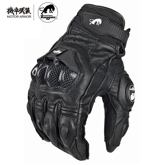 d9af761502f08 Furygan Winter Men's Breathable AFS6 Motorcycle Gloves Racing Leather  Guantes Carbon Knukle Protection Gants Moto Black