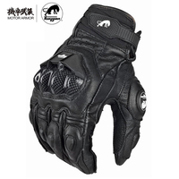 French Brand Furygan AFS 6 Motorcycle Rinding Leather Gloves Carbon Fiber Protected Black White