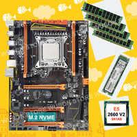 Discount HUANAN ZHI X79 motherboard with M.2 128G NVMe SSD motherboard with CPU Xeon E5 2660 V2 SR1AB RAM 4*8G DDR3 1600 REG ECC
