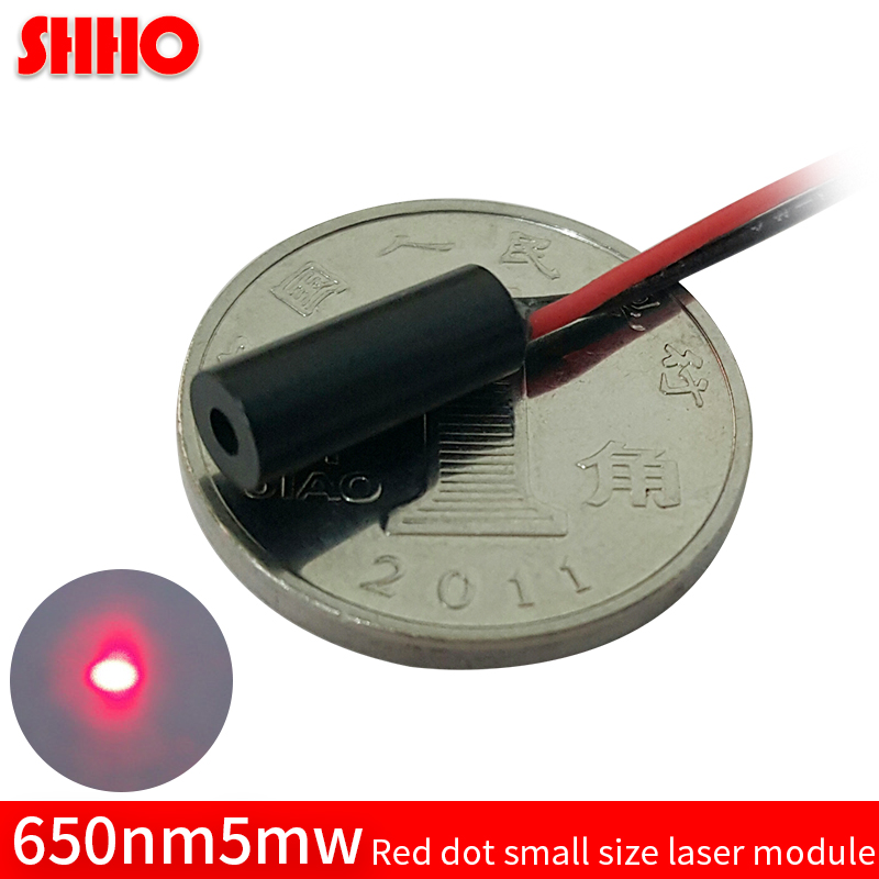 High quality brass 650nm 5mw red dot laser module small size 4*10 laser focus locator red point optical accessories laser sight