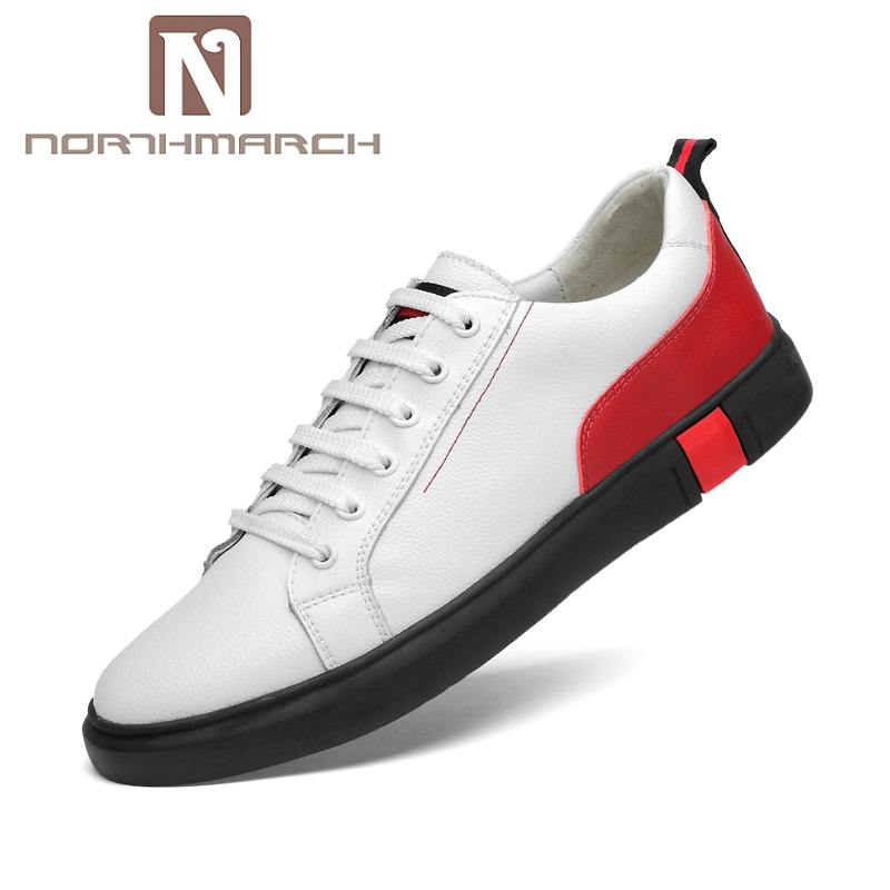 NORTHMARCH Summer Fashion Casual Men Shoes Breathable Male Shoes Lace-Up Men Genuine Leather Shoes Flats Mens Leather Loafers benefit precisely my brow pencil карандаш для разделения бровей 03 medium коричневый