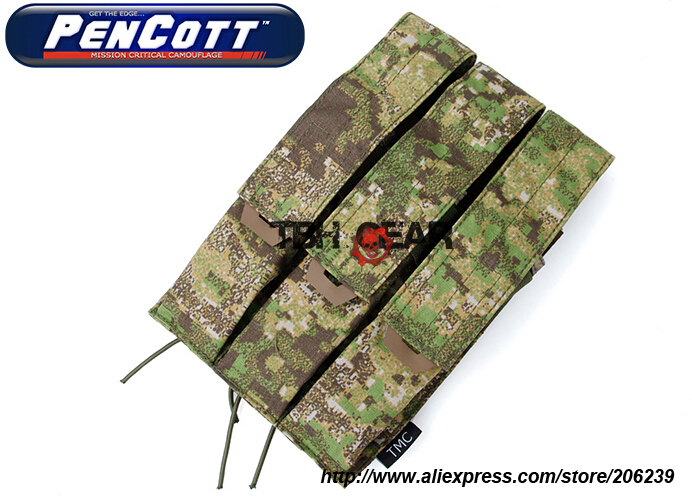 TMC Kriss Vector Magazine Pouch PenCott GreenZone MOLLE Tactical Military Pouch+Free shipping(SKU12050685)