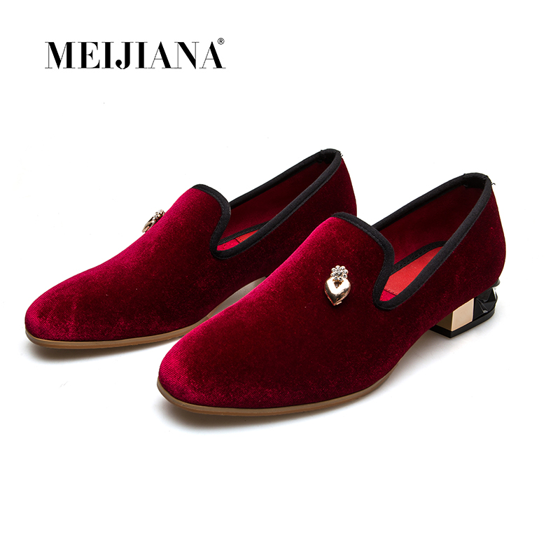 MEIJIANA 2019 New Pure Color Summer Women Brand Pumps Shoes Metal Pendant Loafers Shoes
