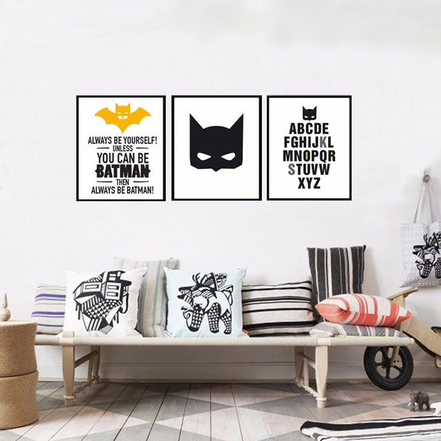 Super hero batman poster canvas painting wall art halloween and super hero batman poster canvas painting wall art halloween and christmas canvas art wall solutioingenieria Choice Image