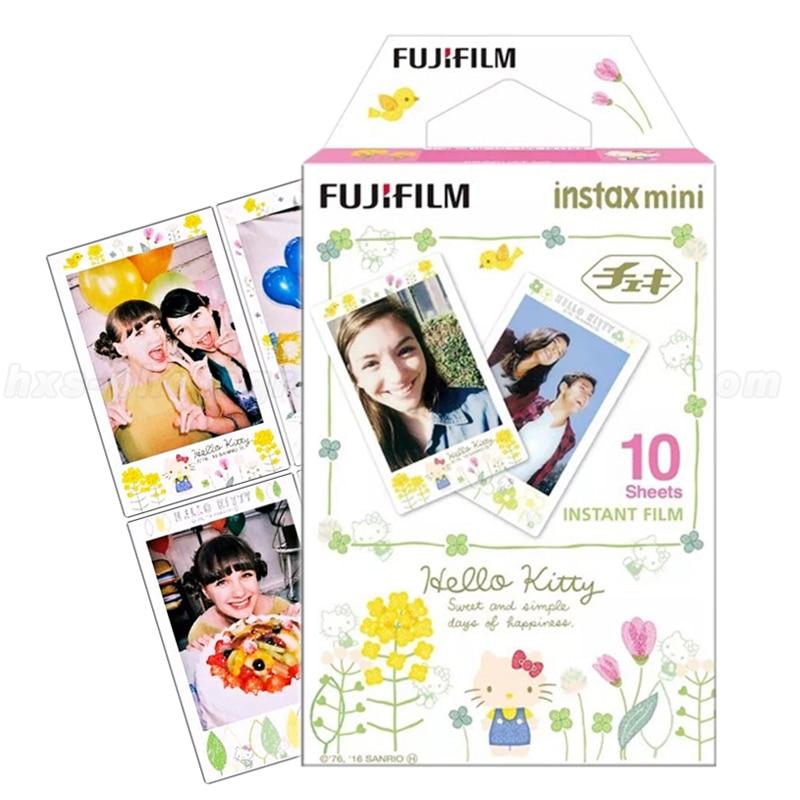 Galleria fotografica Original Fujifilm Instax Mini 9 Film Hello Kitty 10pcs Photo Paper For Mini 8 9 7s 90 25 50s 50i Share SP-1 SP-2 Instant Cameras
