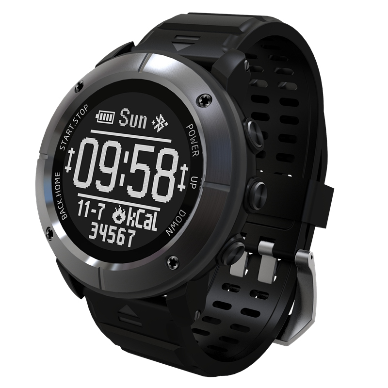 UW80C OLED 1.2 inch IP68 Waterproof Heart Rate Monitor Barometer GPS Thermometer Remote Control Sport Smart Watch smart baby watch q60s детские часы с gps голубые