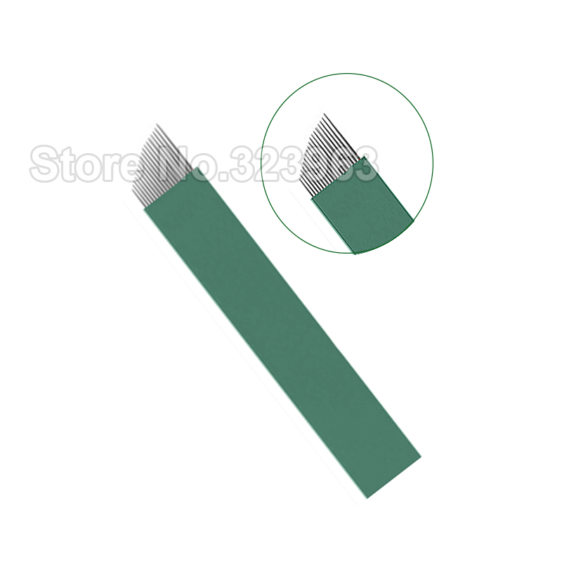 Microblading Needles 0 16mm Lamina Tebori 9 12 14 15 18 21 15U 16U 12 U Tattoo Needles for Permanent Makeup Blade Manual Pen in Tattoo Needles from Beauty Health