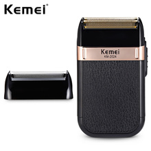 цена Kemei-2024 USB Charging Electric Shaver For Men Reciprocating Twin Blade Razor Shaver Waterproof Beard Trimmer Shaving Machine