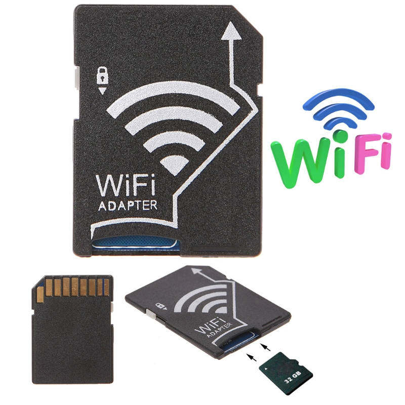 Micro SD TF To SD Card Wifi Adapter For Camera Photo Wireless To Phone Tablet|Memory Card Adapters| |  - title=