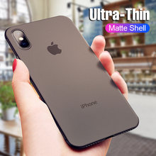 Funda de PP mate Ultra fina de 0,3 MM para iphone X XS Max XR funda dura de teléfono de PC para iphone XS Max X XR Fundas protectoras a prueba de golpes(China)