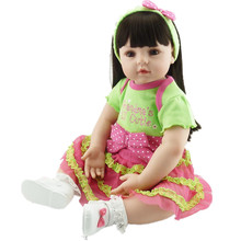 22 Inch 55cm Vinyl Baby Doll Reborn Realistic Baby Kids Toys Gifts for Girls Play House Toys for Children Juguetes Brinquedos