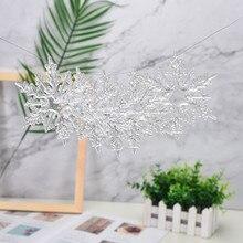 6 шт./лот 11,5 см Акриловые снежинки Рождественская Свадебная елка висячие украшения для DIY#25