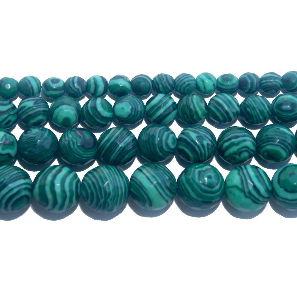 Jewelry & Accessories Faceted Natural Stone Green Malachite Loose Beads 4 6 8 10 12 Mm Pick Size For Jewelry Making Diy Bracelet Necklace Material Aromatic Character And Agreeable Taste Beads