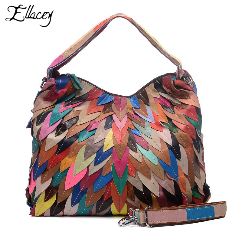 2019 Fashion New Women High Quality Leather Handbags Totes Panelled Genuine Leather Bags  Personality Colorful Bags2019 Fashion New Women High Quality Leather Handbags Totes Panelled Genuine Leather Bags  Personality Colorful Bags