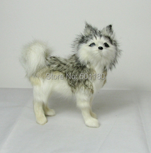free shipping artificial animal dog artificial animal decoration toy artificial animal toy mini husky dog