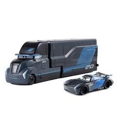 Samochody Disney Pixar 3 samochody 2 Jackson Storm Mack wujek ciężarówka Abs samochód-zabawka z tworzywa sztucznego Diecast 1:55 luźne fabrycznie nowe w magazynie