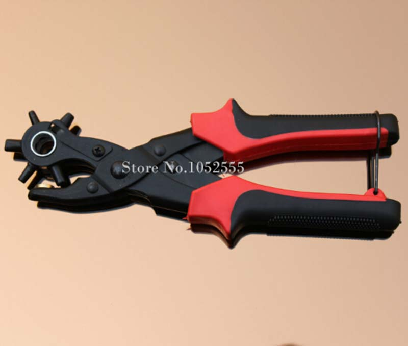 ФОТО 1Pcs New 6 Size Heavy Duty Leather Hole Punch Hand Pliers Belt Holes Punched Punching Plier Hole Home Pliers Tool K49