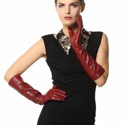 Gants en cuir véritable pour femmes | Longs de 2020, de 44cm de Long, gant en peau de mouton chaud et solide, mode Opera, livraison gratuite EL018NN
