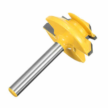 1PC Small Lock Miter Router Bit Anti-kickback 45 degree 1/2\'\' Stock 1/2 inch Shank Tenon Cutter for Woodworking Tools