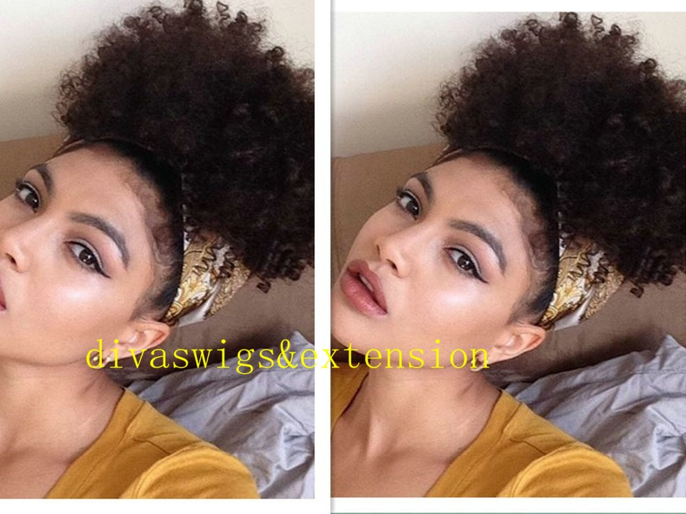 Indian Afro Kinky Curly Weave Ponytail Hairstyles Clip Ins Natural