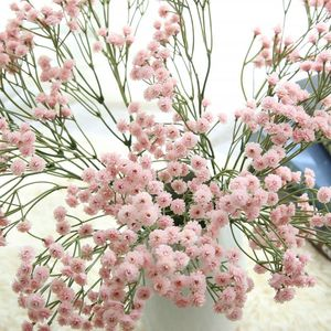 90 Heads Artificial Flowers False Baby's Breath Gypsophila Wedding Decoration Birthday DIY Photo Props Flower Heads Branch(China)