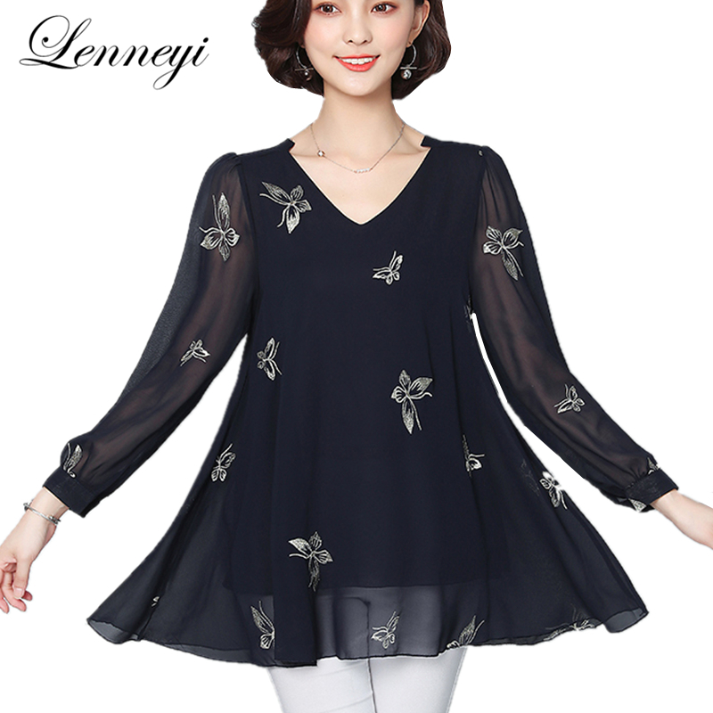 Ethnic Women Blouse 2019 Winter Autumn Elegant White Cotton Blusas Shirt Office Ol Wear Vintage Butterfly Embroidery Shirts M726 Wide Selection; Blouses & Shirts