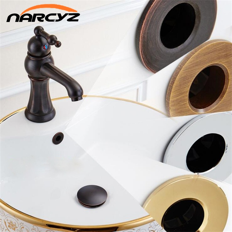New design Bathroom Basin faucet Sink Overflow Cover Brass Six-foot ring Bathroom Product Basin Tidy Insert Replacement XSQ1-9