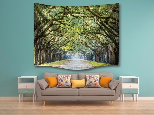 Oak Tree Wall Tapestry Wall Hanging Sandy Beach Towels Yoga Mat