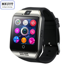 MKUYT Q18บลูทูธสมาร์ทนาฬิกาArcนาฬิกากับซิมการ์ดNFCบลูทูธ3.0ซิงค์Whatsapp Facebookสำหรับมาร์ทโฟน