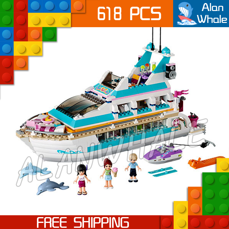 10172 bela Girls Friends Series Dolphin yacht watercraft scooter snack bar Mia Maya Andrew Dolphin Cruiser Compatible With Lego стоимость