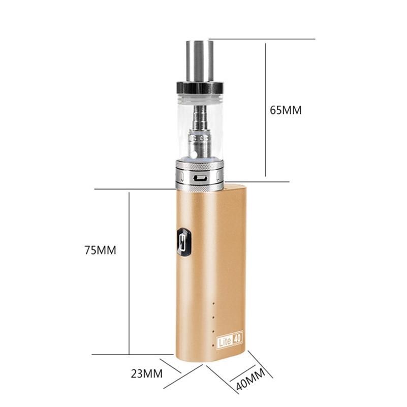 HUIMOKE 0.5ohm Electronic Cigarette Lite40 Vape Mod 40W/2200mAh Vaporizer Pen 3.5ml E-cigarette Mod Kit HJG01