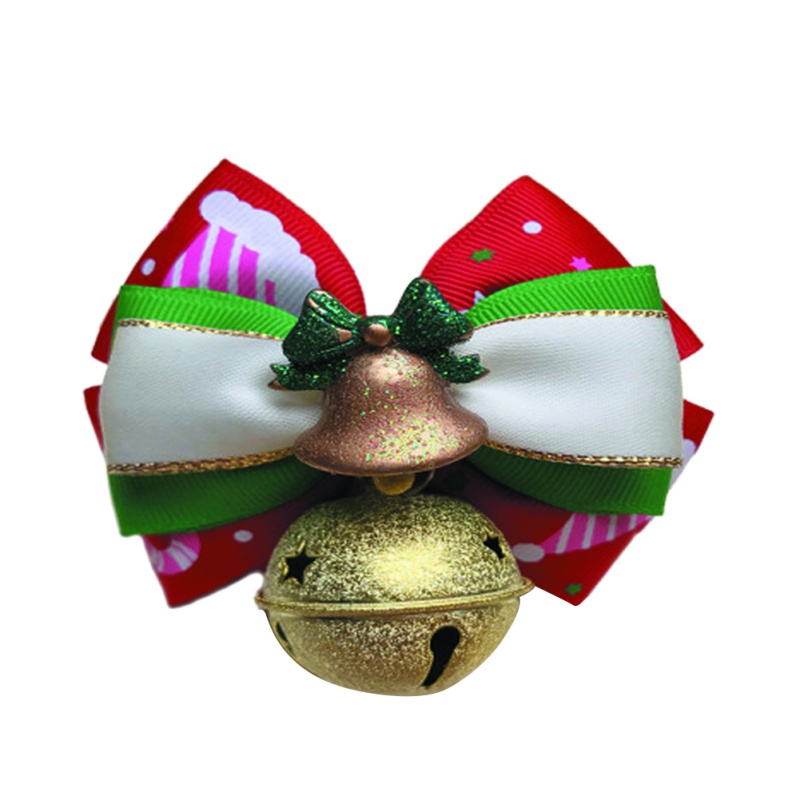 Cat Christmas Belled Bow Tie Collar