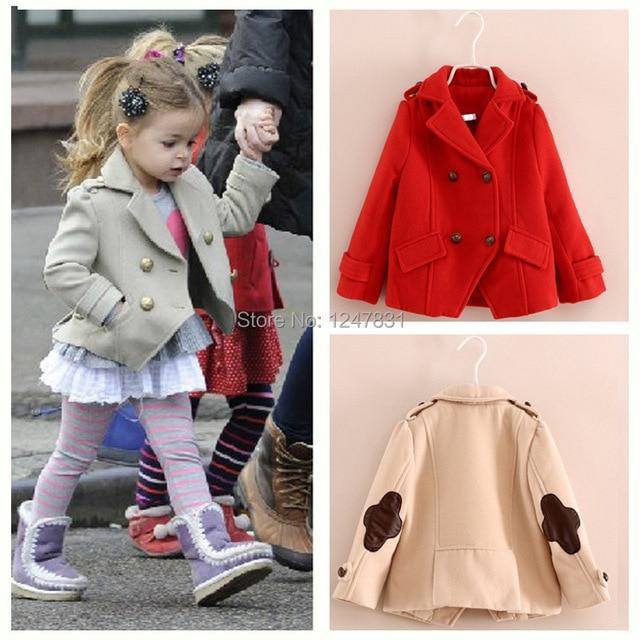 Online Shop new European and American girls woolen outerwear kids ...