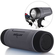 Zealot S1 Bike Speaker Bluetooth Portable Wireless speaker Power Bank 20 Hours TF card player Bike Mount Carabiner included
