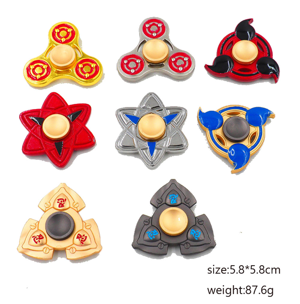 5pcs Fidget Spinner Naruto Hand Spinner Metal Fidget Fingertip For Autism ADHD Anxiety Stress Relief Focus