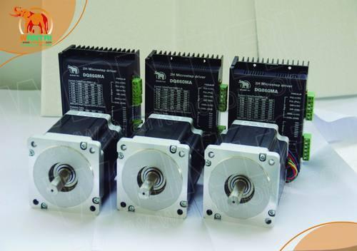 Top Recommend! Wantai 3 Axis Nema 34 Stepper Motor 85BYGH450C-012 1600oz-in+Driver DQ860MA 7.8A 256micro CNC Router Mill Foam  цена и фото
