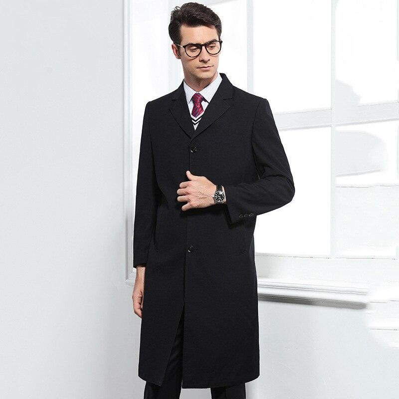 2018 automne Long style trench manteau hommes mode affaires décontracté coupe vent hommes de haute qualité manteaux hommes slim fit vestes - 2
