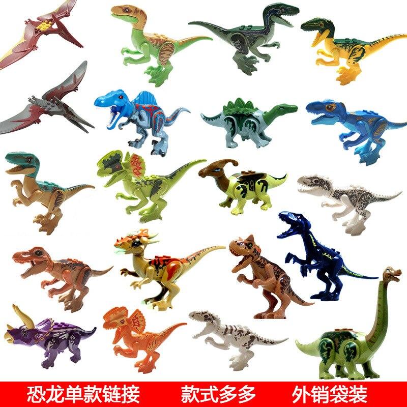 Совместимость большой бренд Юрского периода мир динозавров парк динозавров Raptor защиты зоны здания Конструкторы дети игрушечные лошадки со...