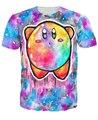 Galaxia carácter Kirby camiseta Unisex mujer hombre moda ropa de la historieta tees hermosa colorida camiseta del verano Tops estilo