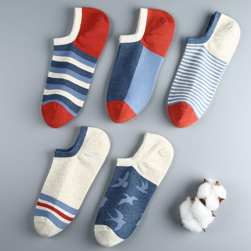 DO DO MIAN 5pairs/lot Spring Summer Men Cotton Ankle Socks For Men's Casual Solid Colors Short Socks Male Sock Slippers