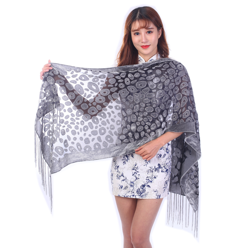 New 2019 Glitter Leopard   Scarf   Women Winter Poncho Luxury Btand Evening Shawl Euro US Hot For Ladys Muslim Hijab   Scarves     Wrap