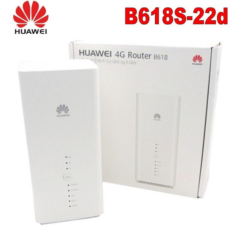 Débloqué nouveau Huawei B618 B618S-22d Cat9/11 450 Mbps 4G LTE CPE routeur WiFi Support VoIP VoLTE 4G routeur sans fil PK B315 E5186
