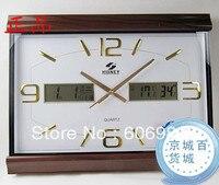 Large Lving Room Wall Clock Quieten Calendar Wall Clock LCD Overlooks Watches and Clocks Wall Clock
