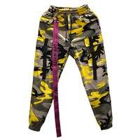 2018 Top Autumn Mens Sweatpants Color Camouflage Cargo Pants Hip Hop Joggers Men Street Wear Fashion Baggy Tactica Trouser XXL