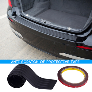 Image 1 - Car Styling Rubber Rear Guard Bumper Protect Trim Cover Pad Scuff Sill Protector Scuff For Skoda Octavia A7 Fabia Superb B6 Yeti