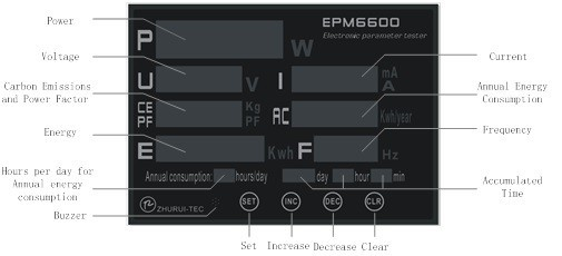 Купить EPM6600 20A/6kw однофазного ПЕРЕМЕННОГО ТОКА ватт метр цифровой квтч измеритель мощности анализатор/с multi-color LED displayer дешево