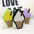 Hot Sale Cell Phone Pocket Zipper Flap Women New Single Personality Ice Cream Package Shoulder Bag Chain Cute Bags Handbags