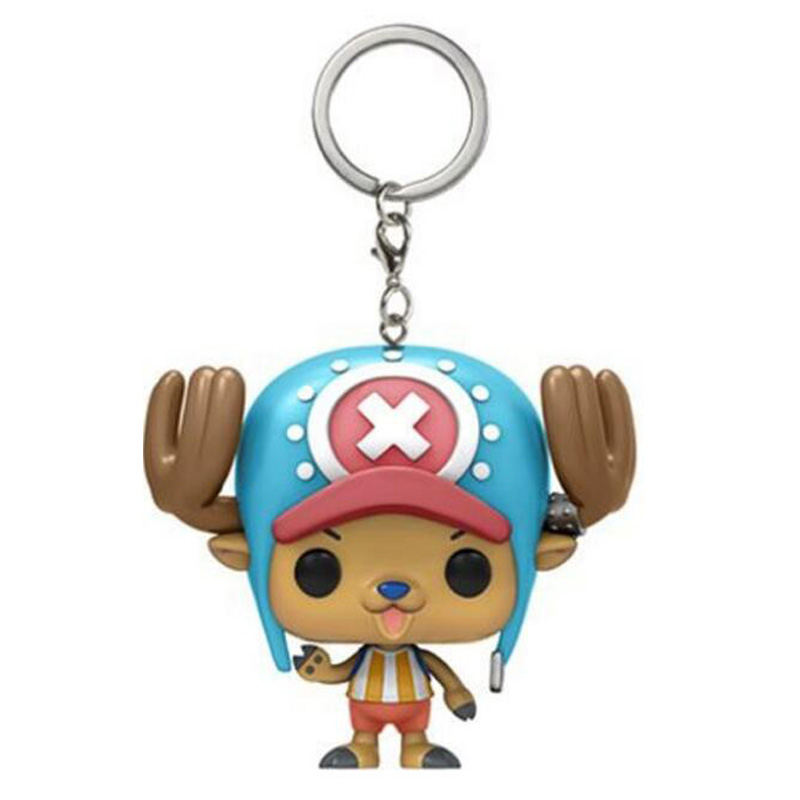 Anime One Piece TonyTony Chopper Cute Keychain Figure Collection Model Toys Key Chain Toys With Retail Box